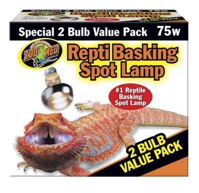 Zoo Med Repti Basking Spot Lamp, 75w (2 pack)