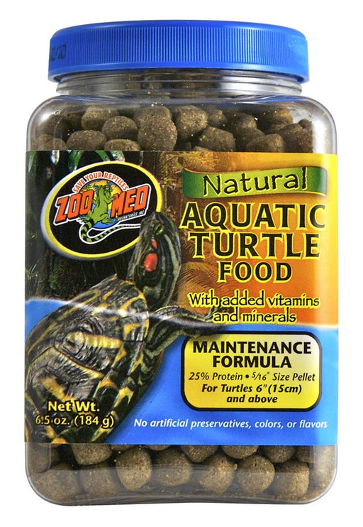 Zoo Med Natural Aquatic Turtle Food – Maintenance Formula, 6.5oz