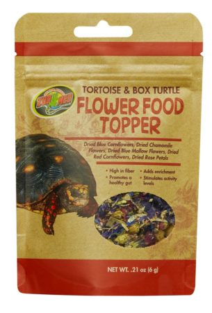 Zoo Med Tortoise & Box Turtle Flower Food Topper, 0.21oz