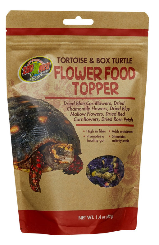 Zoo Med Tortoise & Box Turtle Flower Food Topper, 1.4oz