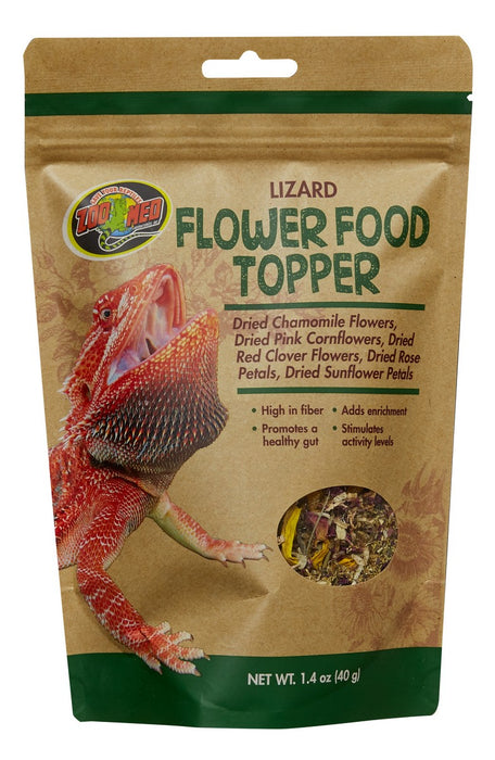 Zoo Med Lizard Flower Food Topper, 1.4oz