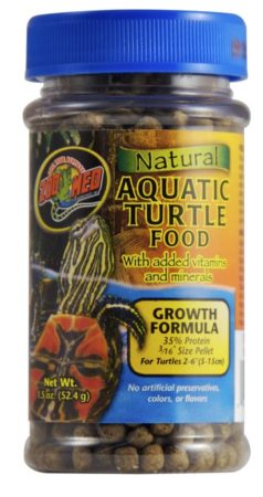 Zoo Med Natural Aquatic Turtle Food – Growth Formula, 1.85oz
