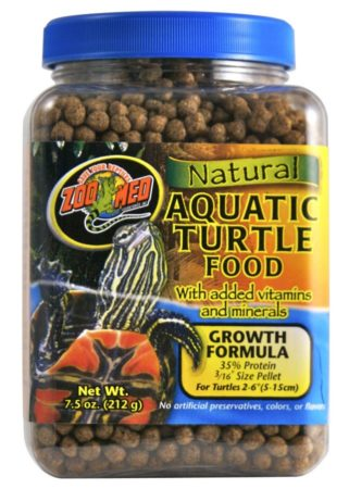 Zoo Med Natural Aquatic Turtle Food – Growth Formula, 7.5oz