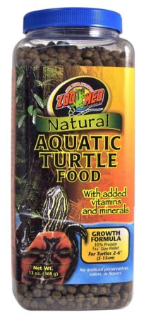 Zoo Med Natural Aquatic Turtle Food – Growth Formula 13oz
