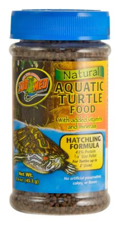 Zoo Med Natural Aquatic Turtle Food – Hatchling Formula, 1.6oz
