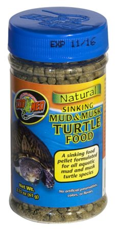Zoo Med Natural Sinking Mud & Musk Turtle Food, 2.15oz