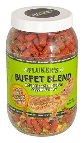 Fluker's Buffet Blend for Adult Bearded Dragons - Veggie Variety, 7oz