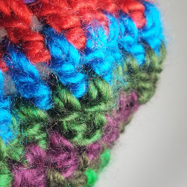 Colorful Beret with Pompom