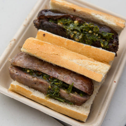 pablokim, grilling, fresh chimichurri, asado, matambre, chimichurri in los angeles, estaca, whole slab, choripan, morcilla, chorizo