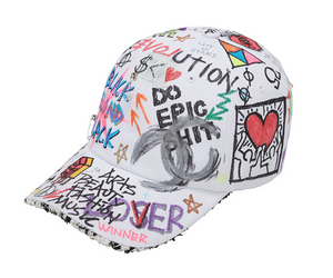 BBD Tweed Cap Graffiti Ver. (White)