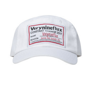 BIG LABLE CAP WHITE