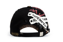 BBD Calf Leopard Ghost Graffiti Cap (Black/Brown)