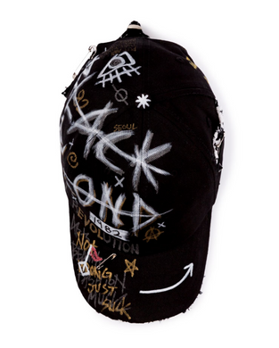 BBD Half Tweed Monster Graffiti Cap (Black)