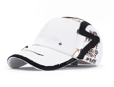 BBD Solid Oxford 7 Sins Graffiti Cap (White)