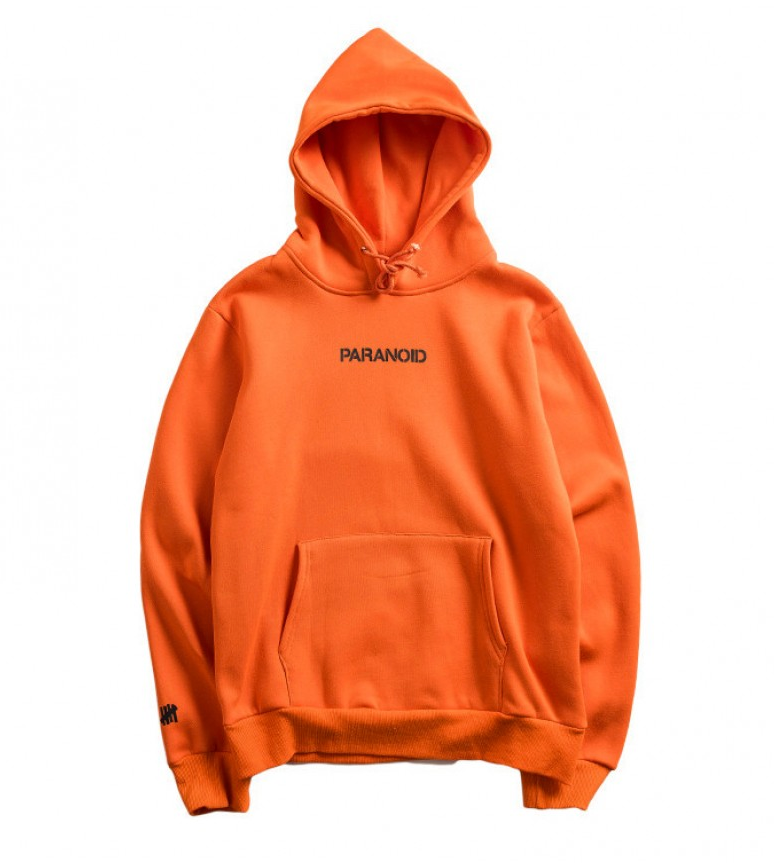 A.S.S.C x Undefeated Paranoid Hoodie orange