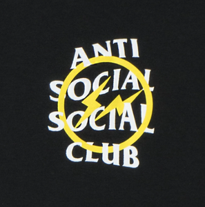 A.S.S.C x Fragment yellow bolt tee