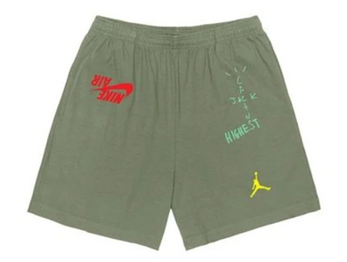Travis Scott Jordan Cactus Jack Highest Sweatshort Olive cpfm