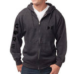 Charcoal Full-Zip Sweatshirt