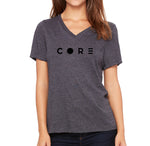 Woman's Grey V-neck