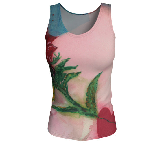 "Fitted Tank Top - ""Take Me to Tango"" - Long"
