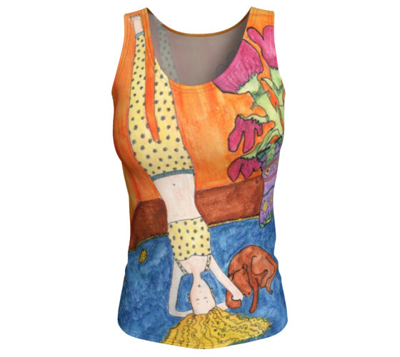 """Karla and Oz"" - Fitted Tank Top - Long"