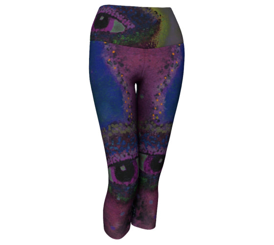 "Yoga Capris - ""Face Over Star Mountain"""