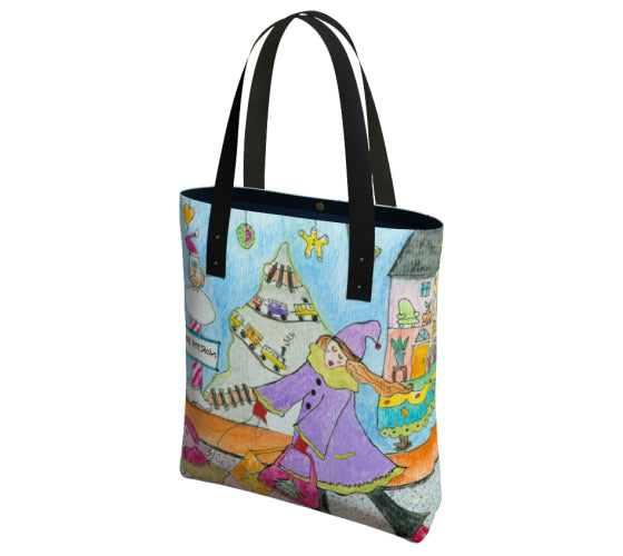"Tote Bag - ""Holiday Window"""