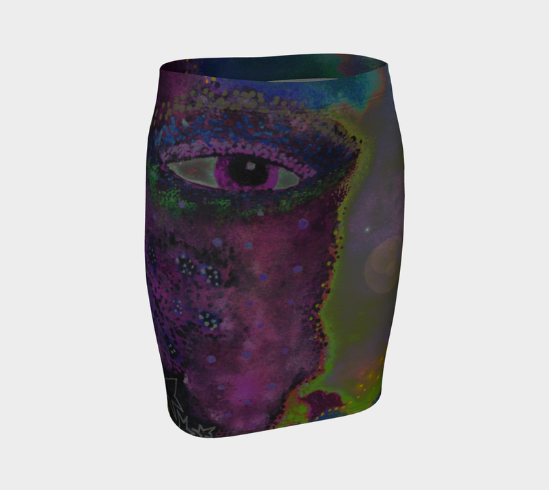 "Fitted Skirt - ""Face Over Star Mountain"""
