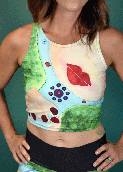 "Athletic Crop Top - ""Mother"""