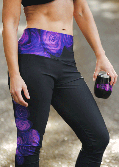 "Yoga Leggings - ""Purple Serenade"""