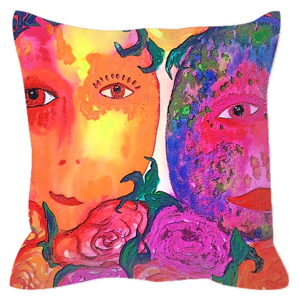 "Outdoor Pillow - ""Gemini Moon"""