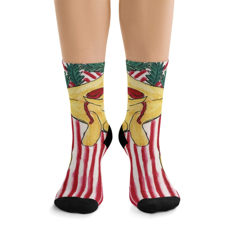 "Cozy Holiday Socks - ""Peace, Love and Happiness"""