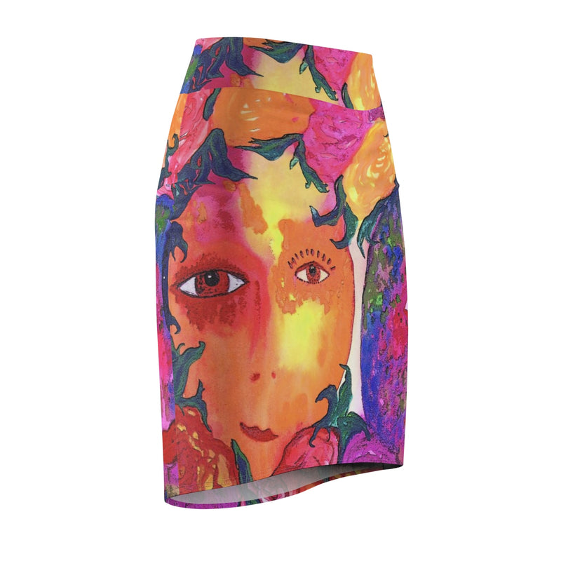 Pencil Skirt - 'Gemini Moon'