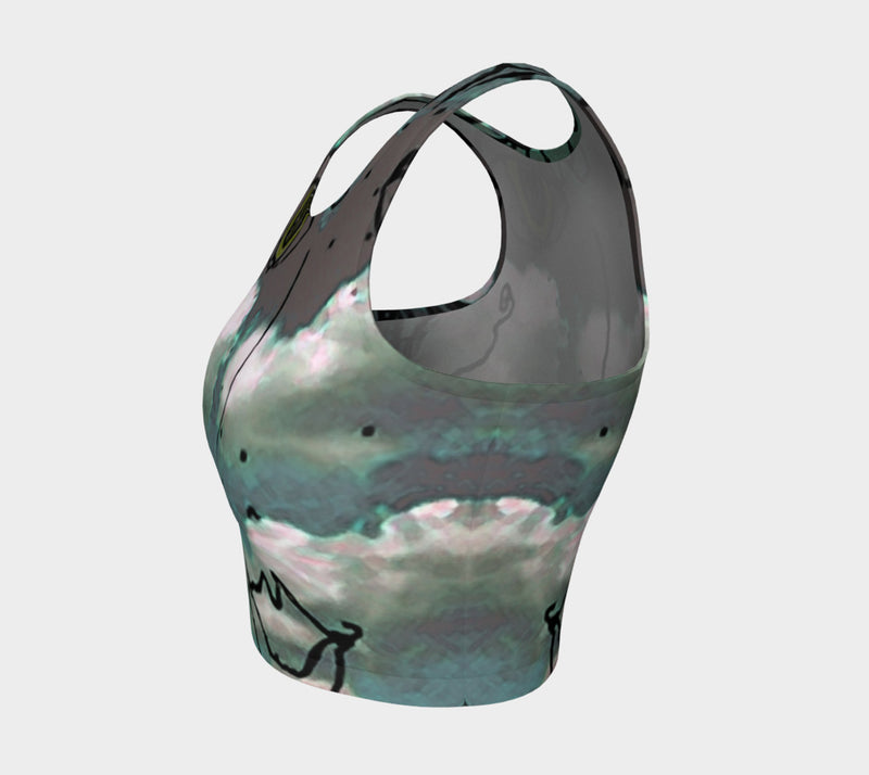 Athletic Crop Top - 'Cloud Girl'