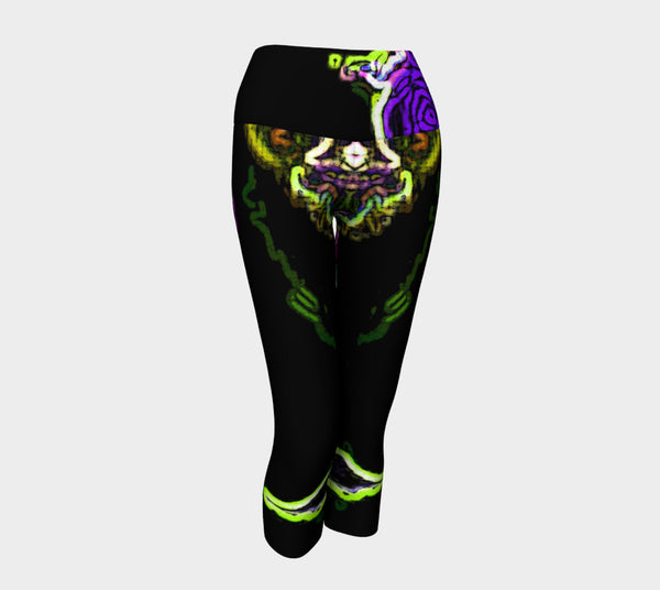 Yoga Capris - 'Jeweled Negra'