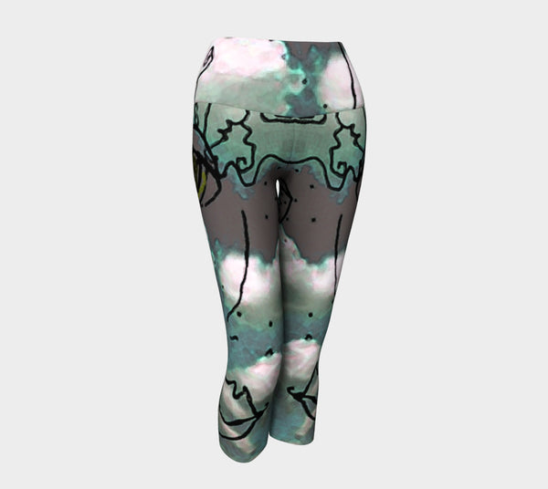 Yoga Capris - 'Cloud Girl'
