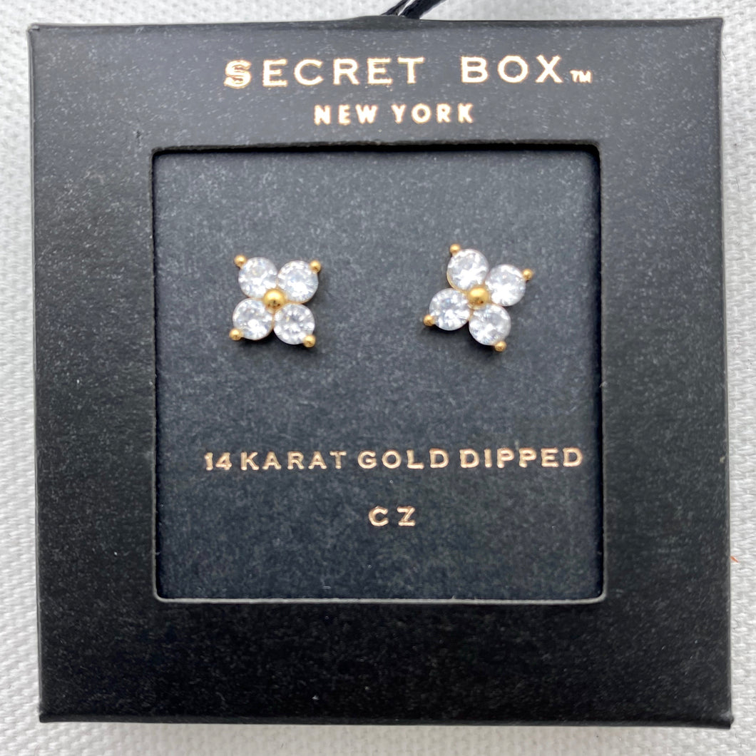Flower Stud Earring, Gold