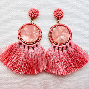 Tricia Earring, Pink