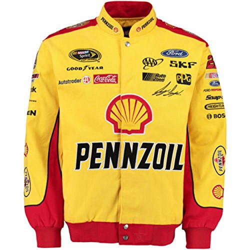 Joey Logano Pennzoil Twill Jacket - Yellow