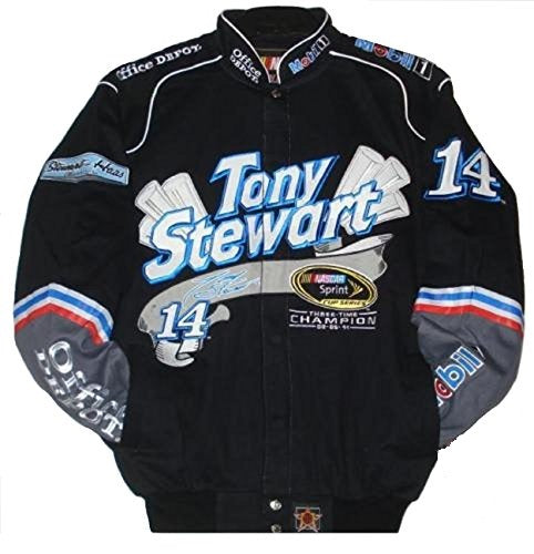 Tony Stewart Sprint Cup Series Champion 3 Times Twill  jacket - Black - JH Design