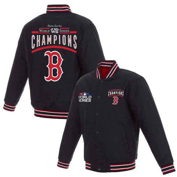 Boston Red Sox JH Design 2018 World Series Champions Poly Twill Jacket – Navy