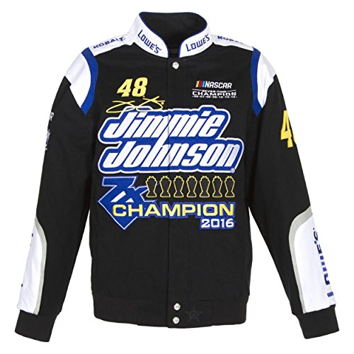 Jimmie Johnson 7 Times Sprint Cup Champion Jacket - Black - JH Design
