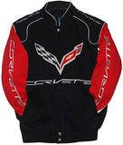 Corvette Racing Embroidered Twill  Jacket - Black / Red