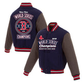 Boston Red Sox JH Design 2018 World Series Champions Wool Reversible Full-Snap Jacket – Navy - JH Design