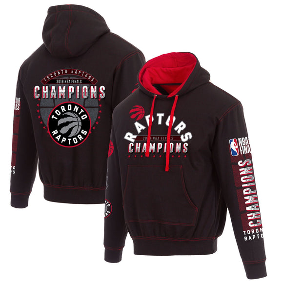 Toronto Raptors JH Design 2019 NBA Finals Champions Pullover Hoodie - Black/Red - JH Design