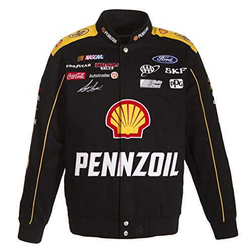 Joey Logano Pennzoil Twill Jacket - Black - JH Design