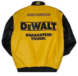 Matt Kenseth Dewalt Leather Jacket - Yellow - JH Design