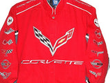 Corvette Racing Embroidered Twill  Jacket - Red - JH Design