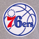 Philadelphia 76ers Two-Tone Reversible Fleece Hooded Jacket - Gray/Royal - J.H. Sports Jackets