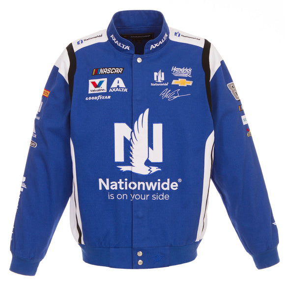 2018 Alex Bowman Nationwide Nascar Uniform Jacket - Royal - JH Design